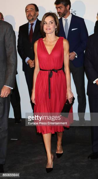 Queen Letizia of Spain attends a concert to commemorate the Vocento 25th Anniversary at Royal Theatre on September 21 2017 in Madrid Spain