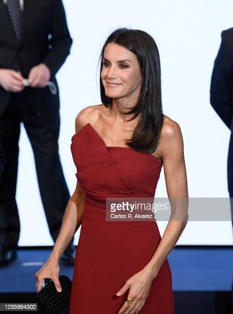 Queen Letizia of Spain attends a dinner in honour of 'Mariano de Cavia' 'Mingote' and 'Luca de Tena' Awards celebrating its 100 edition at ABC on...
