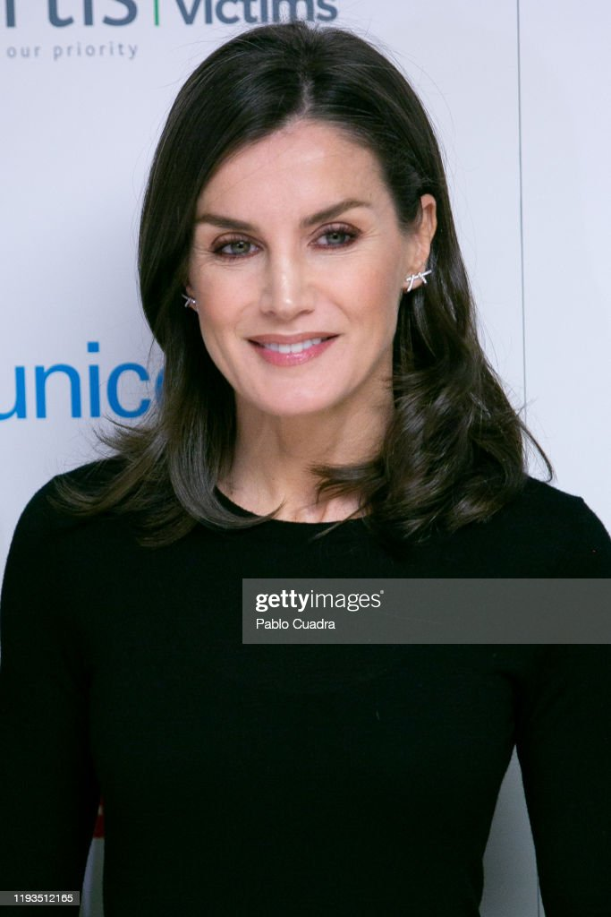 Queen Letizia Of Spain Attends A Forum About The Impact Of Traffic Accidents With Children Victims : News Photo