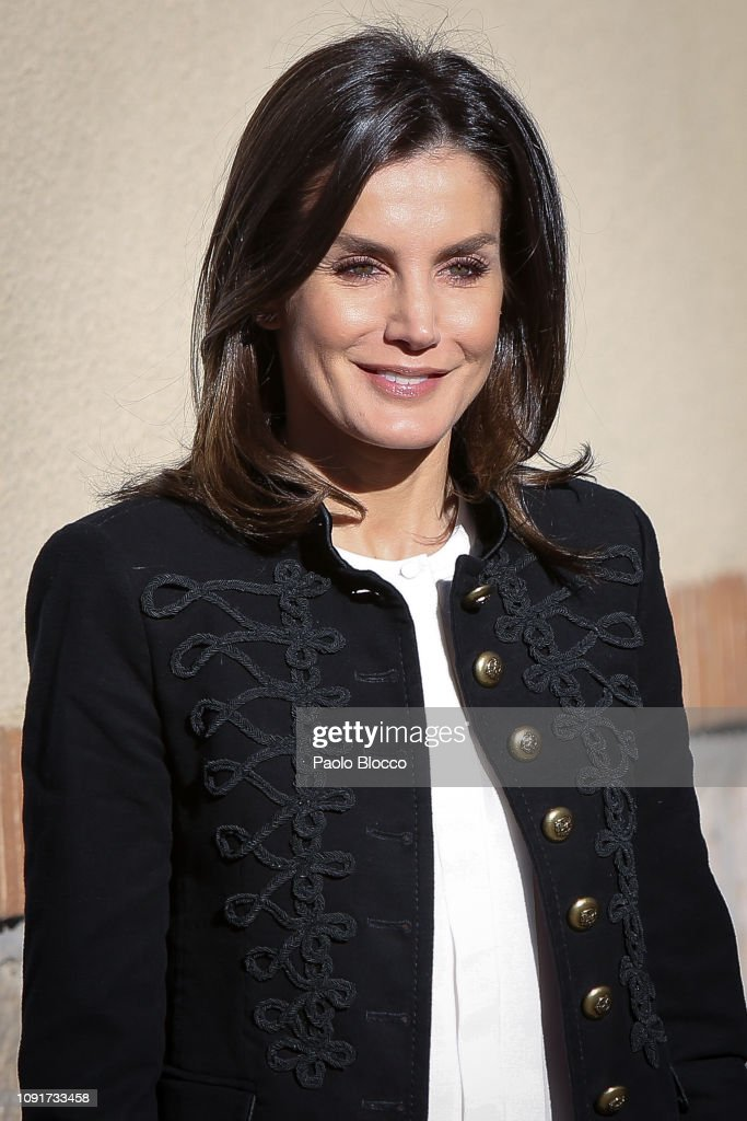 Queen Letizia of Spain Arrives at FAD Headquarters : News Photo