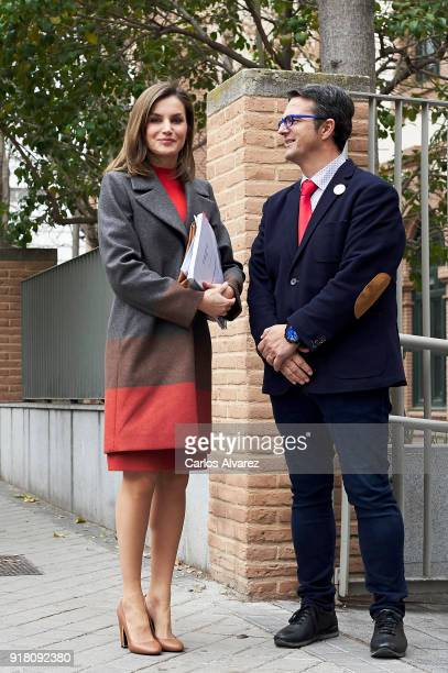 Queen Letizia of Spain attends a meeting at FEDER on February 14 2018 in Madrid Spain