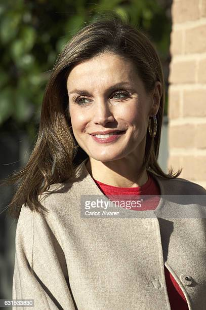 Queen Letizia of Spain attends a meeting at FEDER on January 12 2017 in Madrid Spain