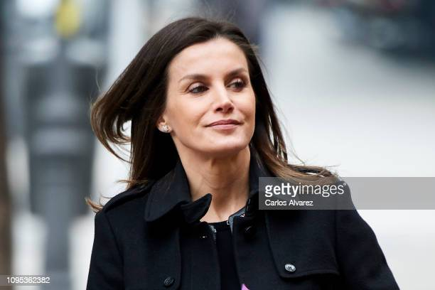 Queen Letizia of Spain attends a meeting at FEDER on January 17 2019 in Madrid Spain