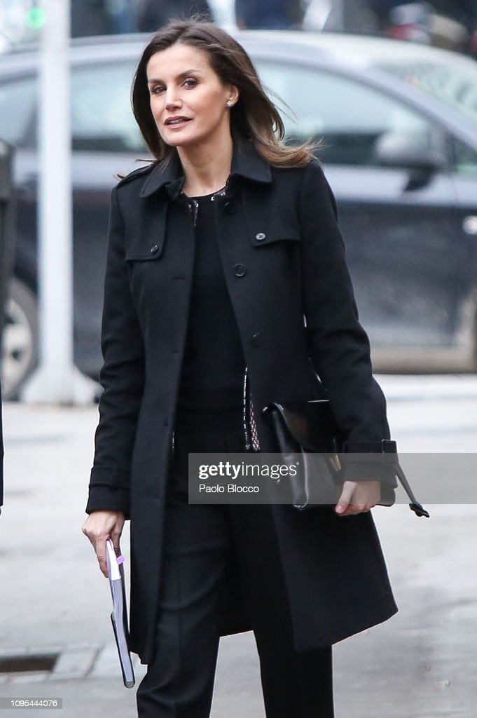 Queen Letizia of Spain Arrives At FEDER Meeting : News Photo