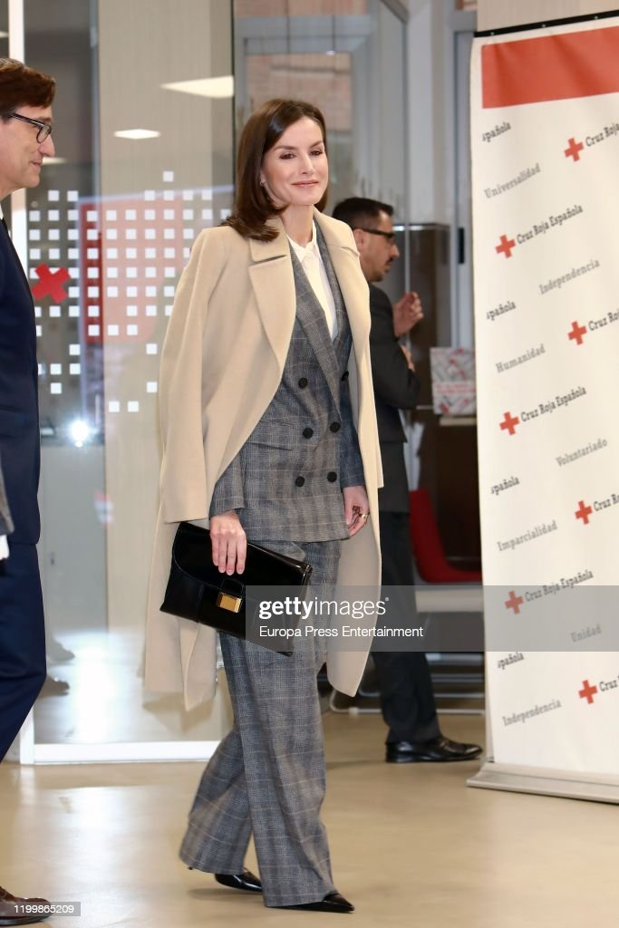 Queen Letizia Of Spain Attends A Meeting At Red Cross Headquarters : News Photo