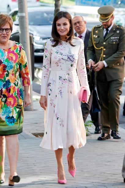 ESP: Queen Letizia of Spain Attends AECC Event In Madrid