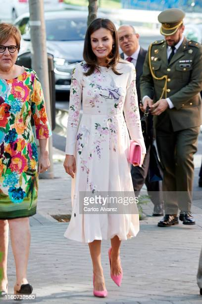 Queen Letizia of Spain attends a meeting at the AECC on July 08 2019 in Madrid Spain