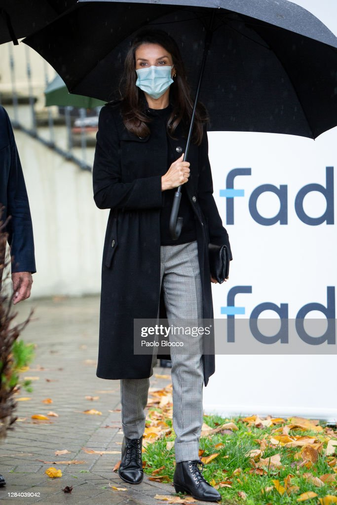 Queen Letizia Visits FAD Headquarters : News Photo