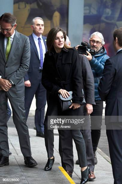 Queen Letizia of Spain attends a meeting at the Fundeu BBVA Foundation on January 10 2018 in Madrid Spain