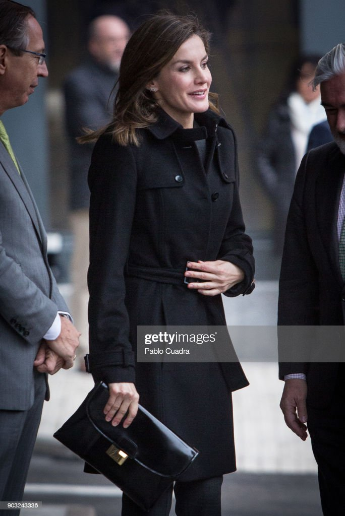 Queen Letizia Attends a Meeting at Fundeu BBVA