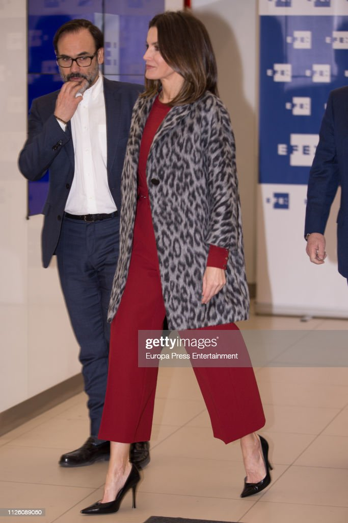 """Queen Letizia of Spain Arrives at """"Fundeu BBVA"""" in Madrid : News Photo"""