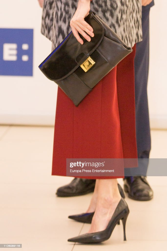 "Queen Letizia of Spain Arrives at ""Fundeu BBVA"" in Madrid : News Photo"