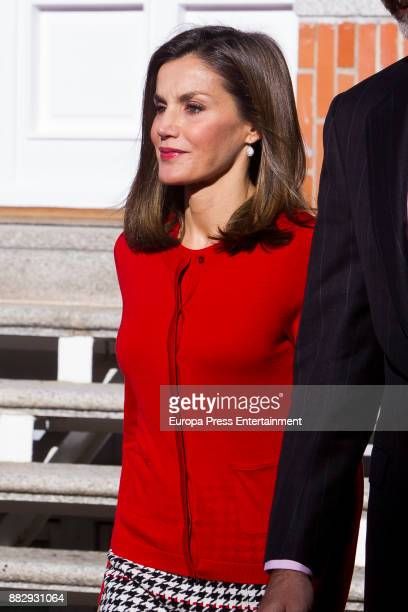 Queen Letizia of Spain attends a meeting for the commemoration of the First Expedition of Fernando de Magallanes and Juan Sebastian Elcano at the...