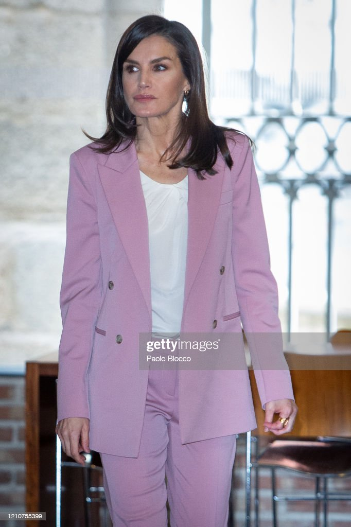 Queen letizia attends A meeting With APRAMP prostitution Women Association : News Photo