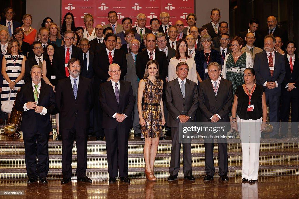 Queen Letizia of Spain Attends Cervantes Institute Meeting : News Photo