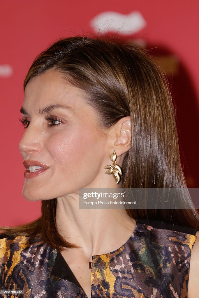 Queen Letizia of Spain Attends Cervantes Institute Meeting : News Photo
