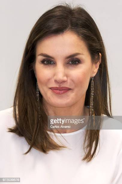 Queen Letizia of Spain attends a meeting with FAD Foundation members at Iberdrola on June 12 2018 in Madrid Spain