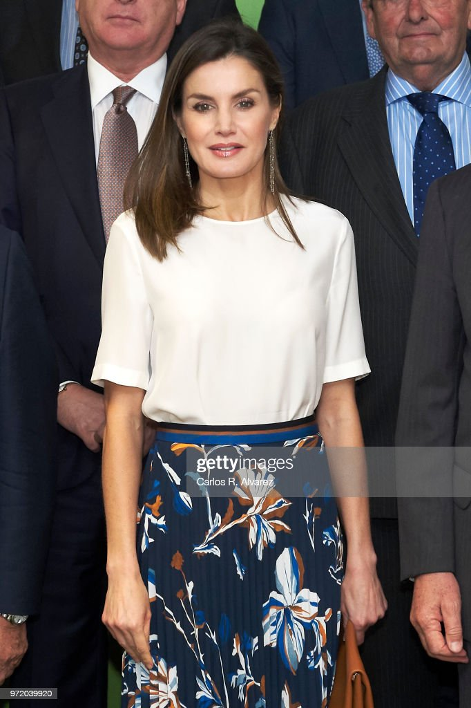 Queen Letizia of Spain Attends A Meeting With FAD Foundation