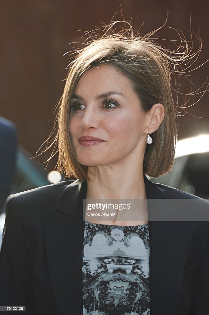 Queen Letizia Attends a Meeting With Members of AECC : News Photo