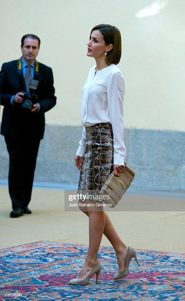 Spanish Royals Attend a Meeting With Members Of 'Princesa de Asturias' Foundation : News Photo