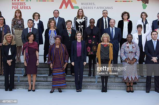 Queen Letizia of Spain attends a meeting with Mujeres Por Africa foundation at the Cecilio Rodriguez Garden on November 16 2015 in Madrid Spain