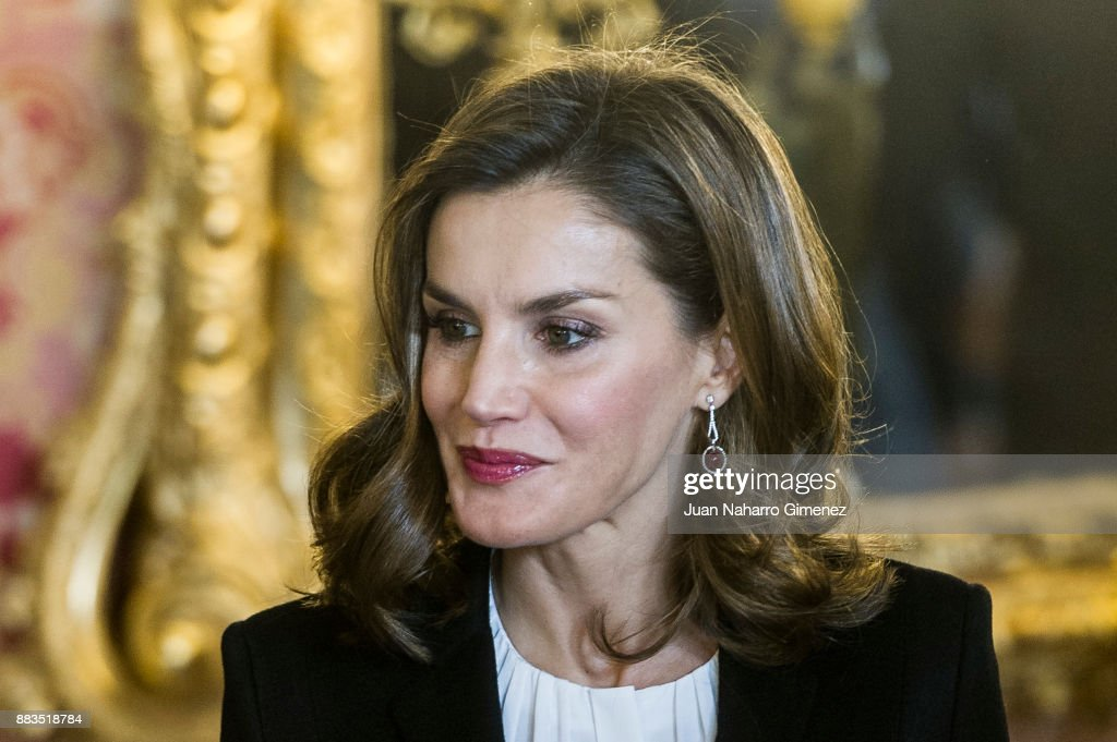Spanish Royals Meets 'Princesa de Girona' Foundation : News Photo