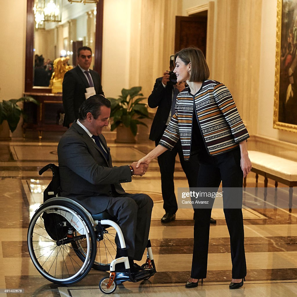 Queen Letizia of Spain Attends a Council Meeting With Royal Board on Disability : News Photo