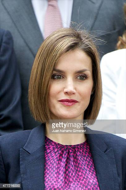Queen Letizia of Spain attends a meeting with the Patronato of the Student Residence Foundation at the Students Residence on June 15 2015 in Madrid...
