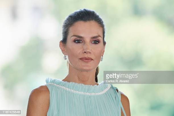 Queen Letizia of Spain attends a reception to Spanish community at the Alicia Alonso Gran Theater on November 13, 2019 in La Havana, Cuba. King...