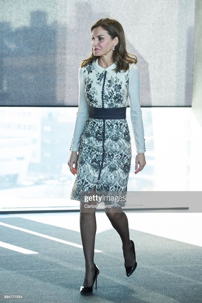 Queen Letizia of Spain Attends 'Accion Magistral 2017' Awards