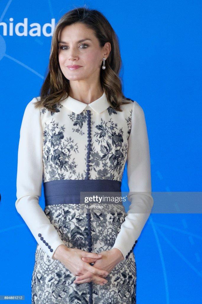Queen Letizia Of Spain Attends Accion Magistral 2017 Awards