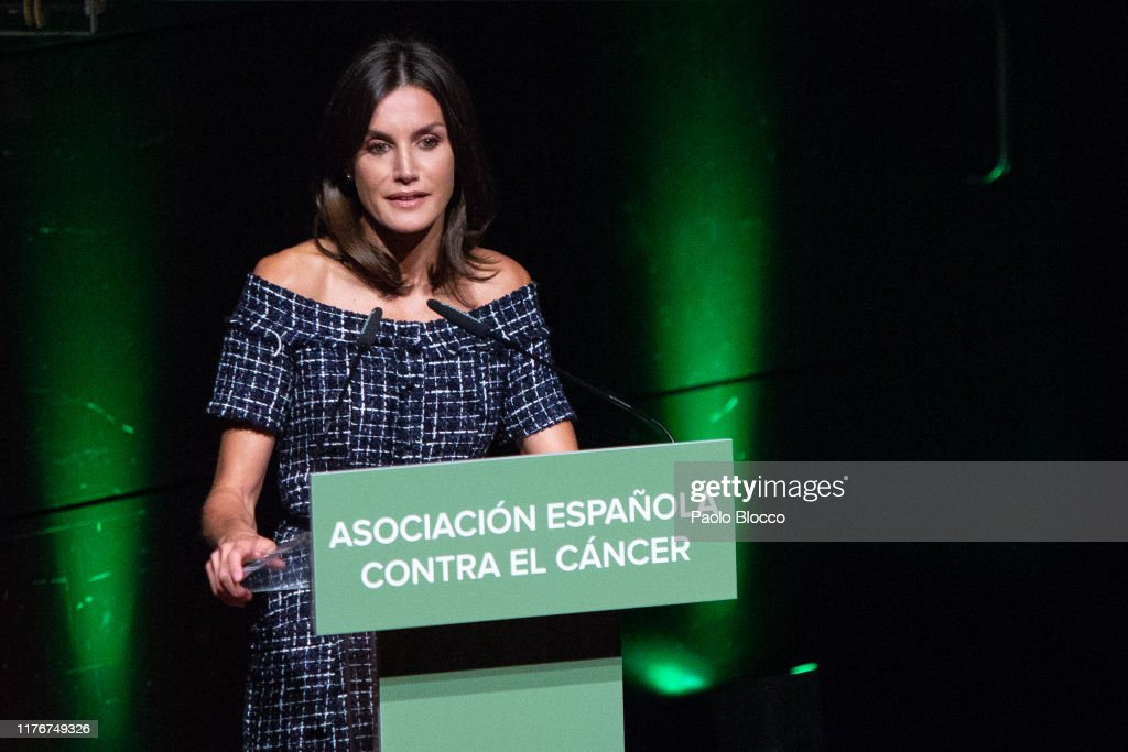 Queen Letizia Of Spain Attends AECC Event In Madrid : News Photo