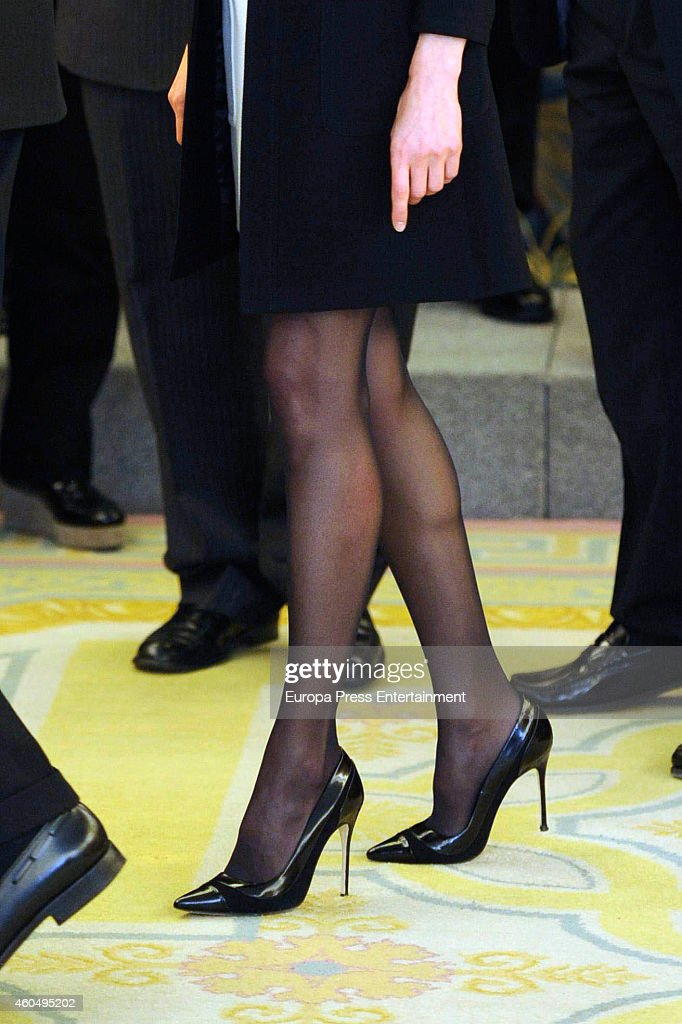 Spanish Royals Attend Audience In Madrid : News Photo
