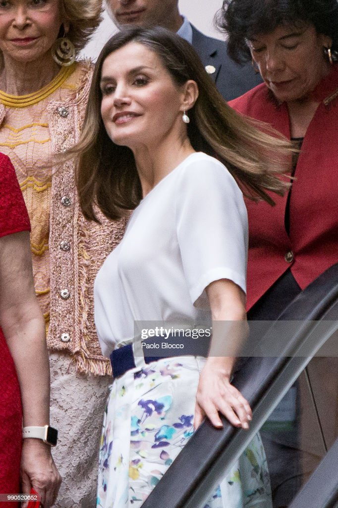 Queen Letizia Attends An Event Organized By  'Mujeres Por Africa' Foundation