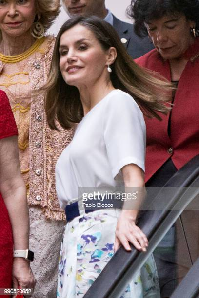 Queen Letizia of Spain attends an event organized by 'Mujeres Por Africa' Foundation on July 3 2018 in Madrid Spain