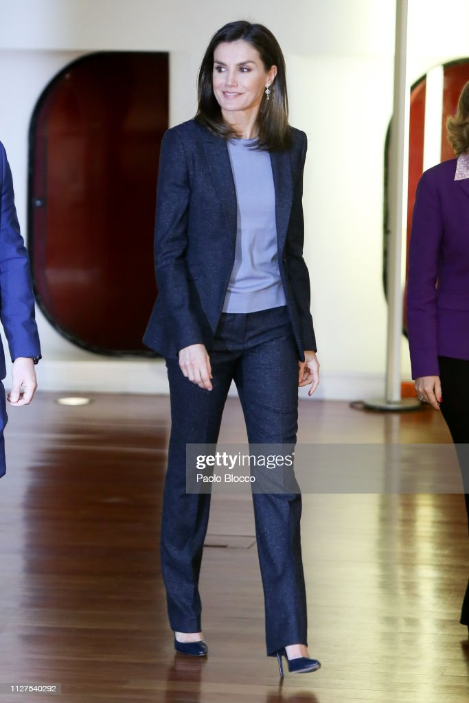 Queen Letizia of Spain Attends 'International day of Safe Internet' Event in Madrid : News Photo