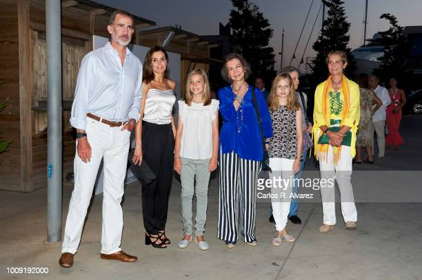 Queen Letizia of Spain attends Ara Malikian concert at Port Adriano on August 1 2018 in Palma de Mallorca Spain