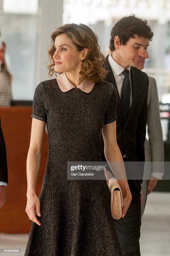 Queen Letizia Of Spain Attends 'Congress On Rare Diseases' In Bilbao : News Photo