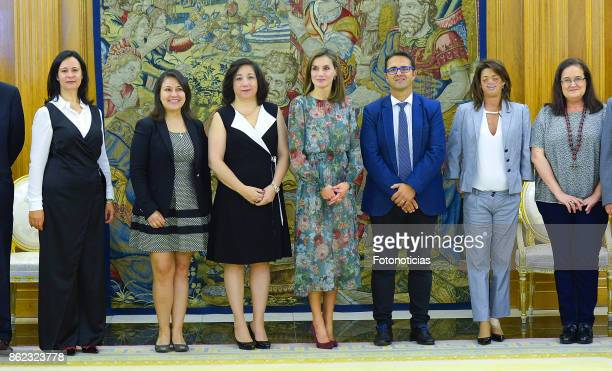 Queen Letizia of Spain attends Audiences at Zarzuela Palace on October 17 2017 in Madrid Spain
