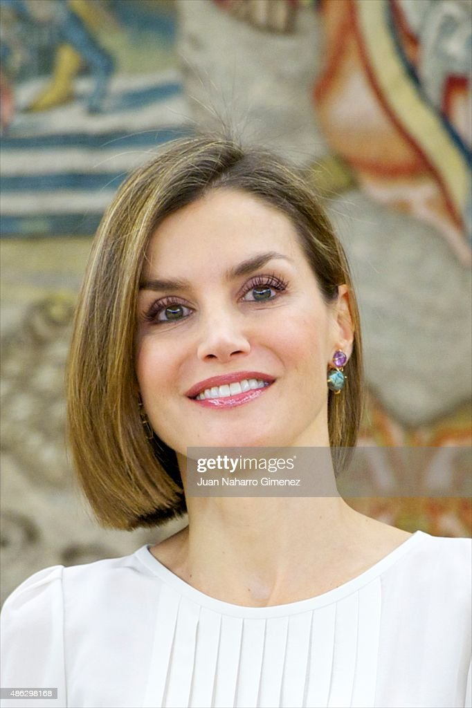 Spanish Royals Attend Audicences in Madrid : News Photo