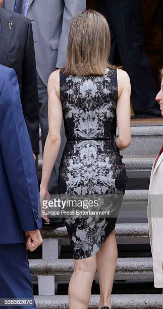 Queen Letizia of Spain attends audiences at Zarzuela Palace on June 6 2016 in Madrid Spain