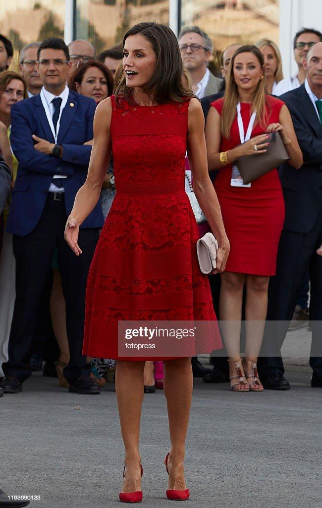 Queen Letizia Of Spain Attends CEMAS In Valencia : News Photo