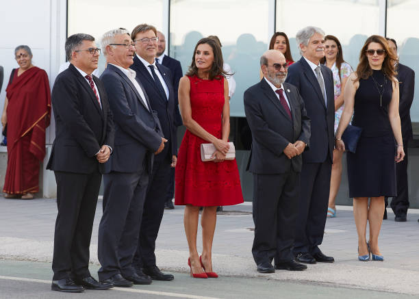 ESP: Queen Letizia Of Spain Attends CEMAS In Valencia