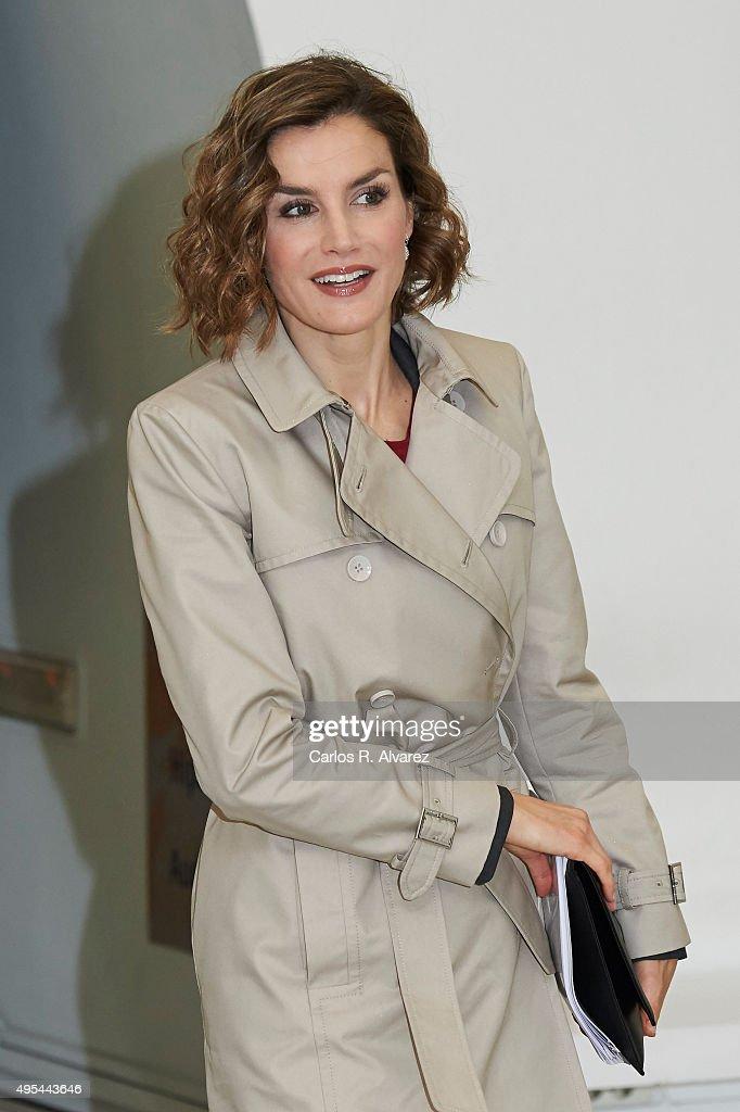 Queen Letizia of Spain attends 'Cooperacion Espanola 2030. Espana y la nueva agenda de desarrollo sostenible' seminar at the National Library on November 3, 2015 in Madrid, Spain.