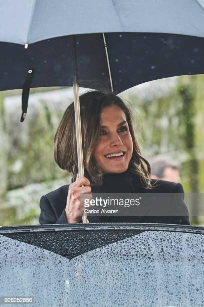 Queen Letizia of Spain attends 'Digitalizadas' presentation at the Reyes Catolicos Hotel on March 2 2018 in Santiago de Compostela Spain