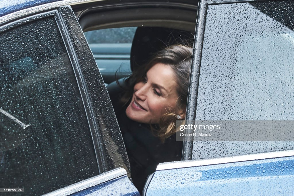 Queen Letizia of Spain attends 'Digitalizadas' presentation at the Reyes Catolicos Hotel on March 2, 2018 in Santiago de Compostela, Spain.