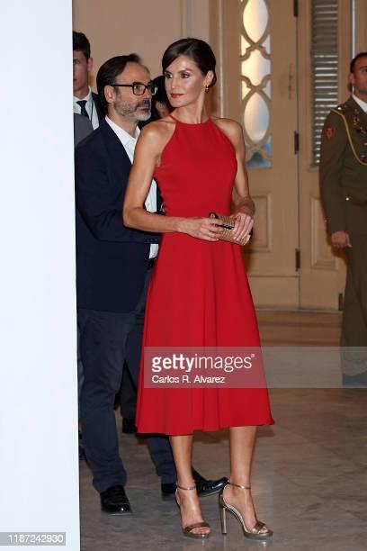 Queen Letizia of Spain attends 'Espana y Cuba: Contigo en la Distancia' exhibition at Alicia Alonso Gran Theater on November 12, 2019 in La Havana,...