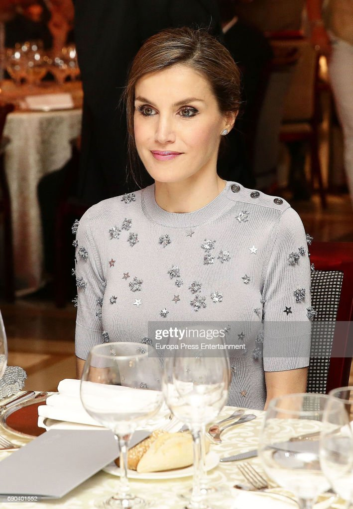 Queen Letizia of Spain attends Europa Press news agency 60th Anniversary at the Villa Magna hotel on May 30, 2017 in Madrid, Spain.