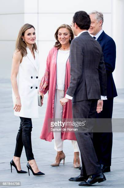 Queen Letizia of Spain attends 'Famelab' 2017 on May 24 2017 in Madrid Spain