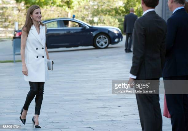 Queen Letizia of Spain attends 'Famelab Espana 2017' Scientific Monologues presentation at Callao Cinema on May 24 2017 in Madrid Spain